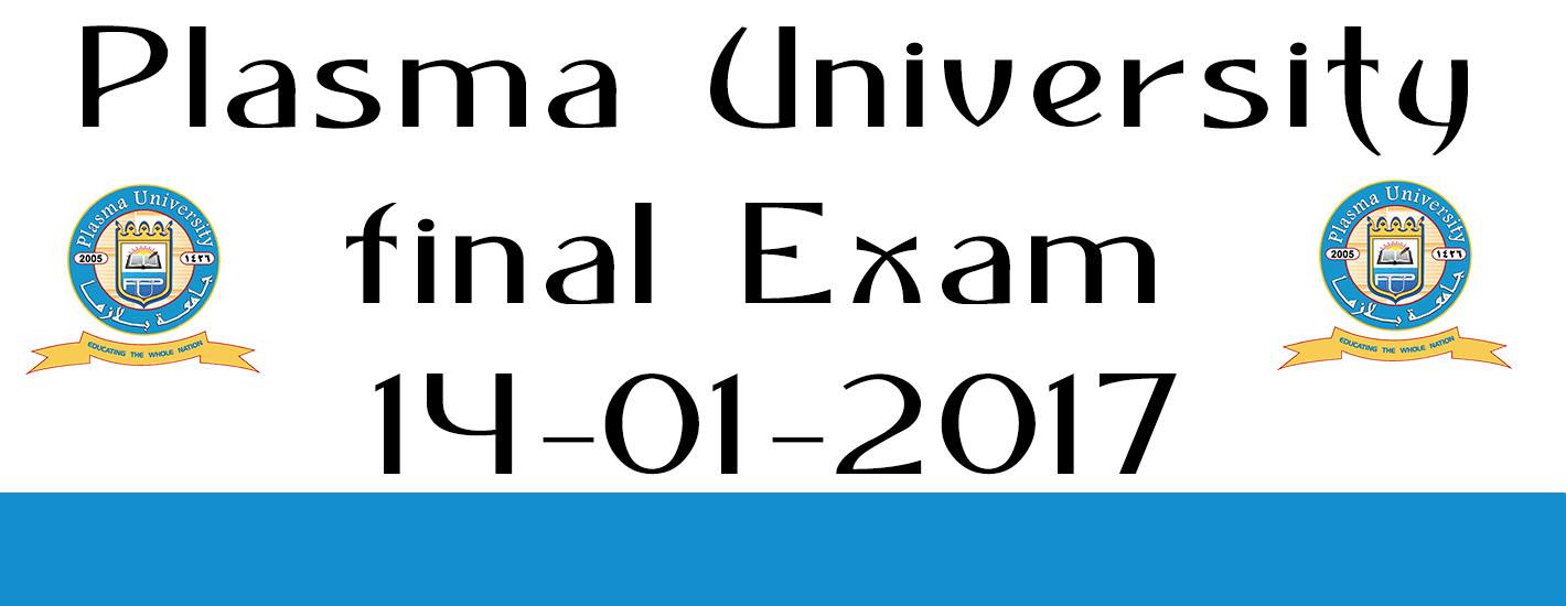 Final Exam 14-01-2017