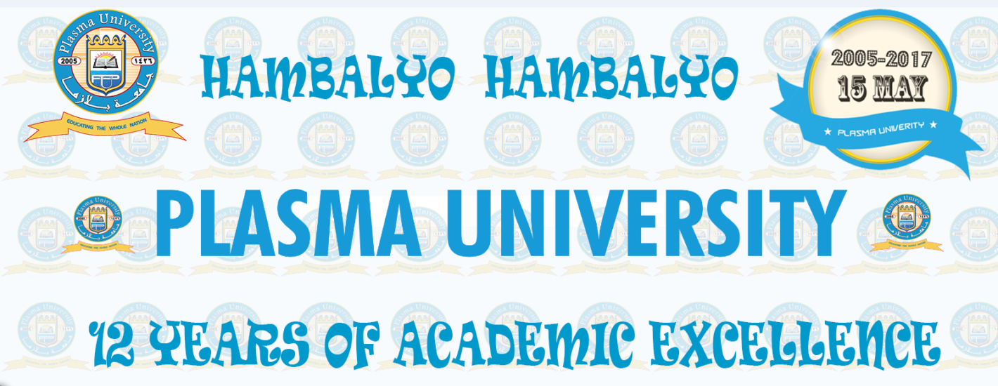 Plasma University 12 Years of Academic Excellence!!!